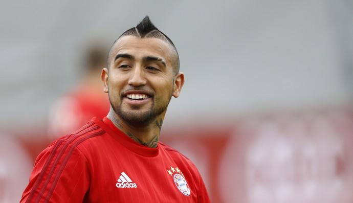 Vidal primeiro treino Bayern de Munique (Foto: AP Photo/Matthias Schrader)