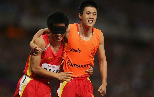 Lei Xue 100m rasos T11 atletismo (Foto: Getty Images)