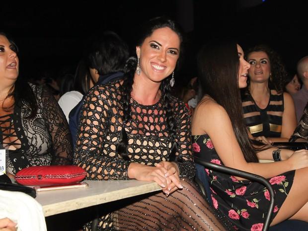 Graciele Lacerda em show em São Paulo (Foto: Manuela Scarpa/ Brazil News)