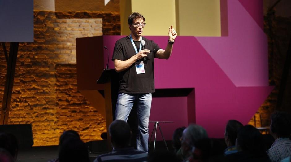 Jonathan Levav durante o Festival de Cultura Empreendedora (Foto: Ricardo Cardoso)