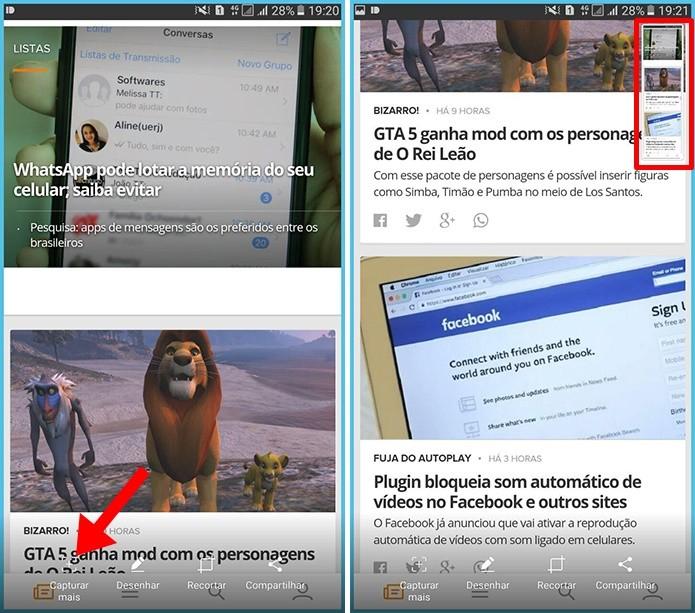 Tire prints de páginas da web inteiras (Foto: Reprodução/Paulo Alves)
