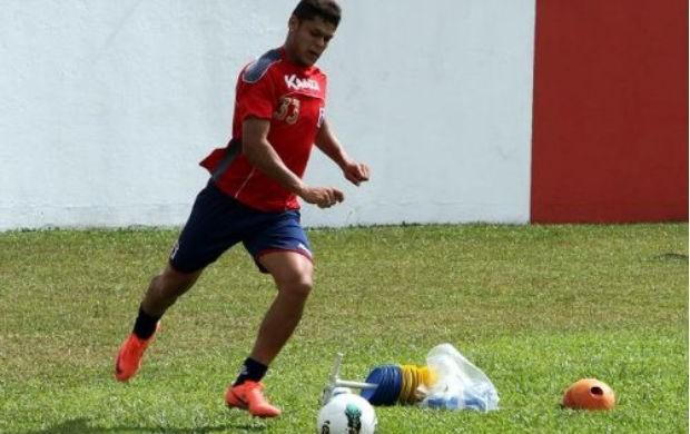 Wendell treina no Paraná Clube (Foto: Divulgação/site oficial do Paraná Clube)