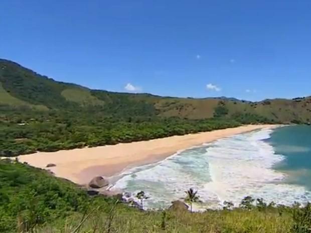 No ranking das praias mais bonitas do país, Bonete atrai turistas em Ilhabela (Foto: Reprodução/ TV Vanguarda)