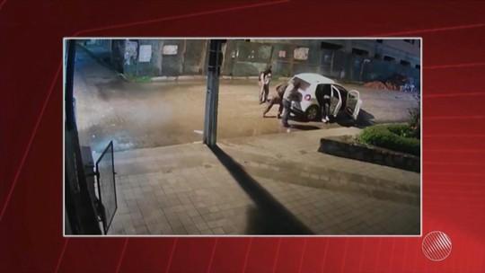Câmeras flagram ação de grupo que explodiu banco e cercou PM na Bahia