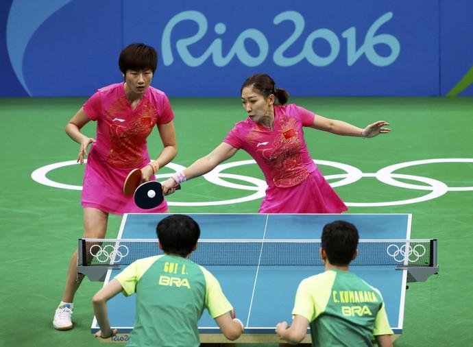 Brasil pega a china e n o avan a no t nis de mesa feminino o placar do brasil for Table tennis 6 0
