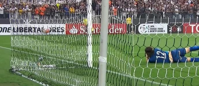 Cássio Corinthians Santa Fe Libertadores (Foto: Reprodução SporTV)