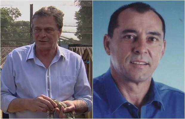 Dinis Lourenço da Silva e Júlio César Carneiro foram demitidos pelo Ministério da Agricultura, em Goiás (Foto: Reprodução/TV Anhanguera)