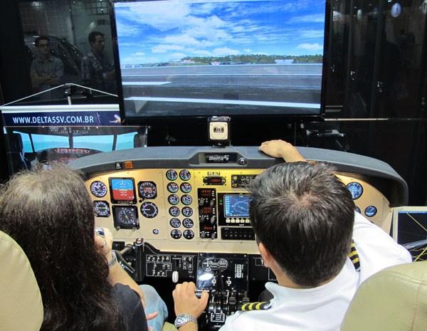 Empresário Reinaldo Zanon acaba de abrir rede de franquias de escolas para pilotos. (Foto: Gabriela Gasparin/G1)