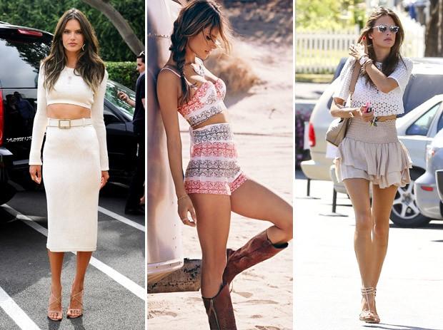 Top Alessandra Ambrsio d dicas de como usar as roupas certas para parecer mais alta (Foto: Grosby Group)