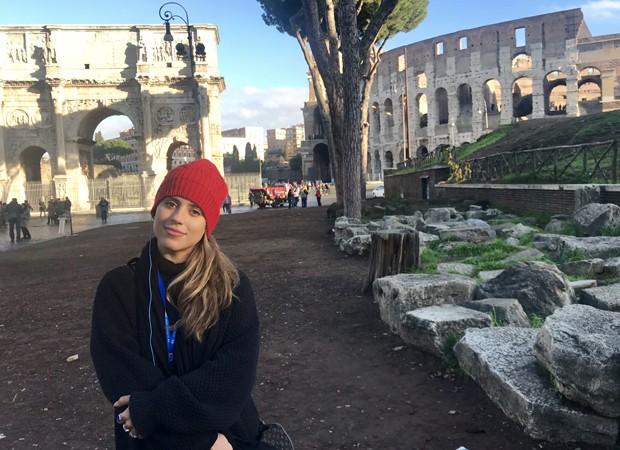 Camilla Camargo aproveitou dias em Roma (Foto: Arquivo pessoal)