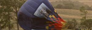 Vento forte surpreende e obriga equipe a adiar voo de balão (Rede Globo)