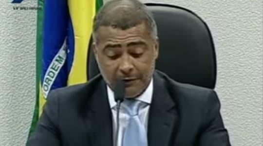 O novato: Romário, senador (Foto: Reprodução / YouTube)