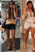 Pernas para que te quero! Bruna Marquezine usa e abusa de shorts, saias e vestidos curtinhos