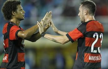 """Edinho elogia Flamengo na goleada: """"Muita marcação e volume de jogo"""""""