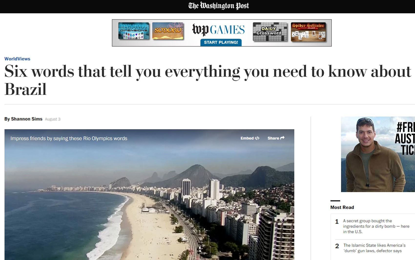 Post do jornal 'Washington Post' ensina seis palavras essenciais para estrangeiros no Brasil