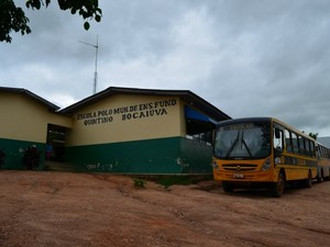 Escola Municipal Quintino Bocaiúva, Cacoal (Foto: Paula Casagrande)