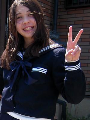 Gabriela Nichimura, no Japão (Foto: Arquivo Pessoal / Silmara Nichimura)