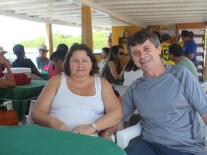 Casal se diz encantado com Delta do Parnaíba (Foto: Patrícia Andrade/G1)