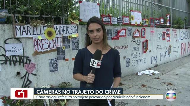 Câmeras da Prefeitura no trajeto percorrido por Marielle Franco não funcionam