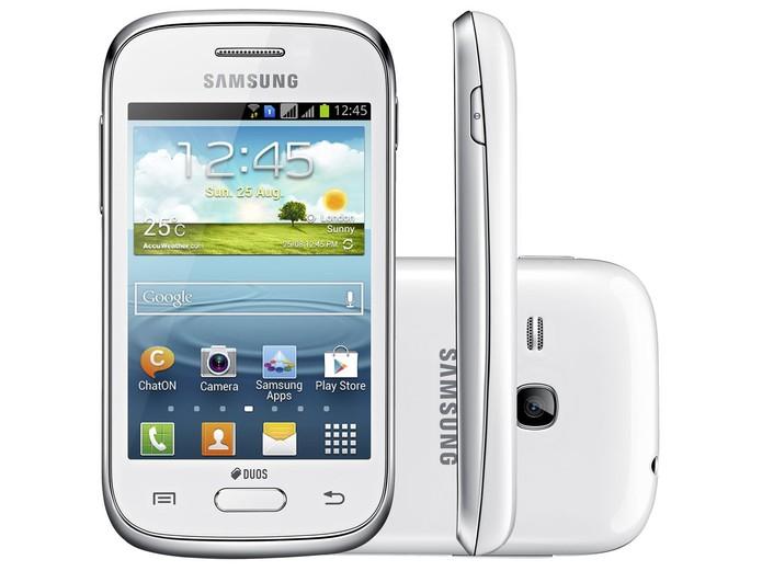 Galaxy Young Plus tem função dual-chip, Android Jelly Bean e preço em conta (Foto: Divulgação/Samsung)