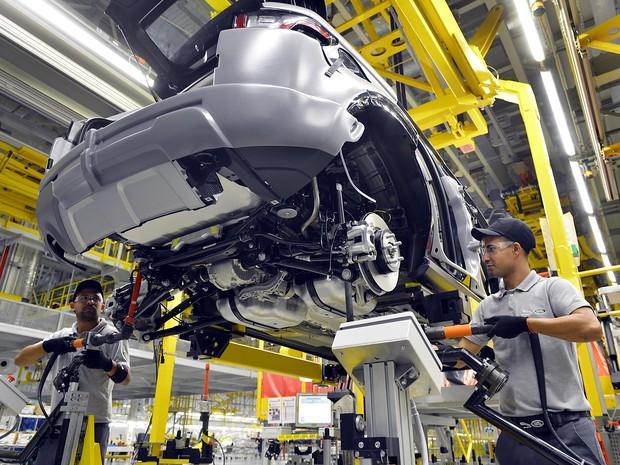 Fábrica da Jaguar Land Rover em Itatiaia, RJ (Foto: Divulgação)