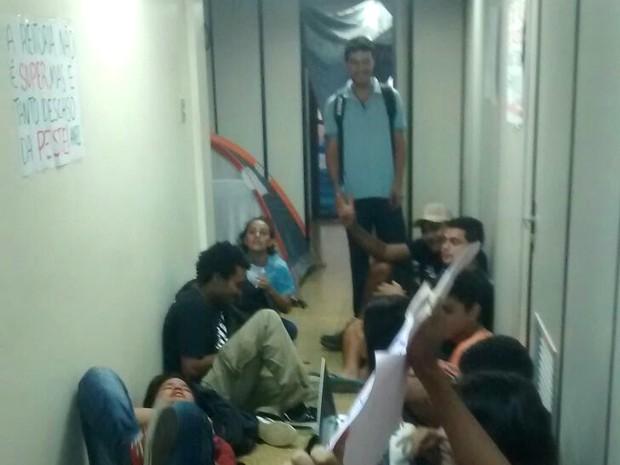 Estudantes ocuparam prédio da reitoria da Unifap, Macapá, Amapá, (Foto: Elton Souza/Arquivo Pessoal)
