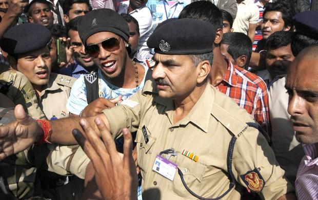 Ronaldinho Gaucho, india (Foto: Agência AFP)