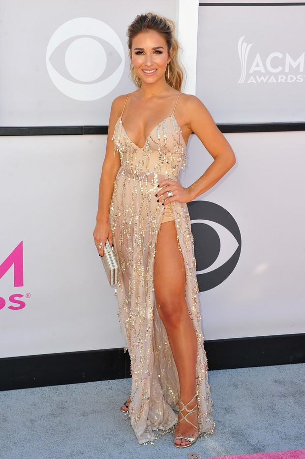 Jessie James Decker no American Country Music Awards (Foto: Getty Images)