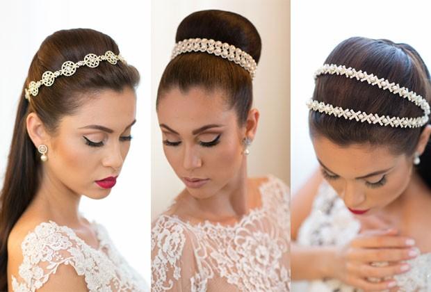 Penteados com tiaras, produ��o do beauty stylist Marcelo Hicho (Foto: Sabrina Vasconcelos)