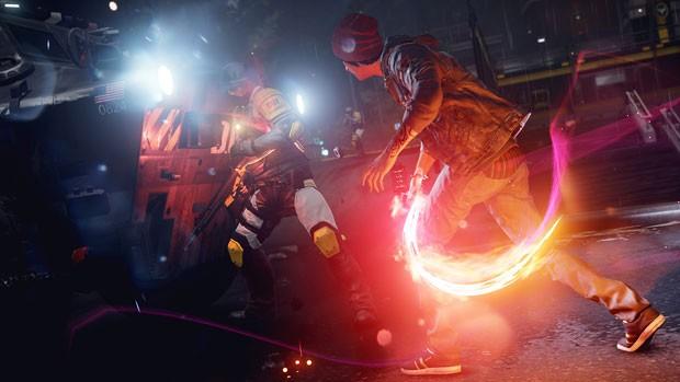 O visual de 'Infamous: Second Son' é muito bom, com destaque para os efeitos de luz e de partículas (Foto: Divulgação/Sony)