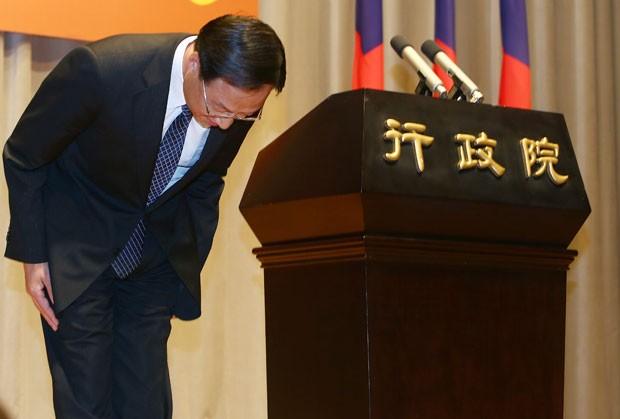 Jiang Yi-huah renunciou ao cargo após derrota de partido (Foto: AP)