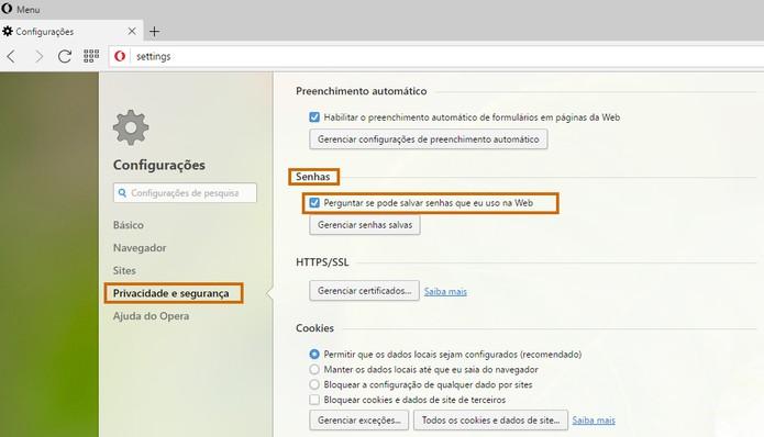 Salve senhas do Gmail pelo Opera (Foto: Reprodução/Barbara Mannara)