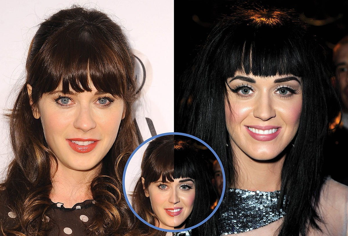 Zooey Deschanel e Katy Perry (Foto: Getty Images)
