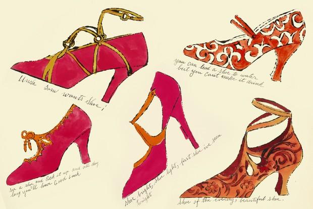 Warhol para fashionistas  desenhos de sapatos vão a leilão - Vogue ... b4419fd22b