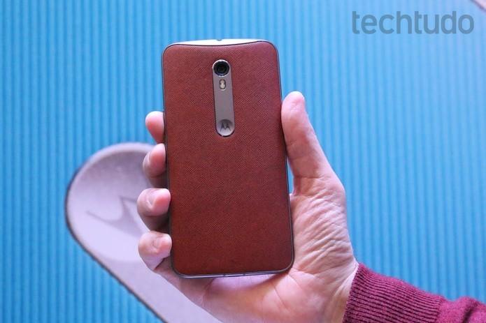 Moto X Style tem destaque para a câmera de 21 megapixels (Foto: Nicolly Vimercate/TechTudo)
