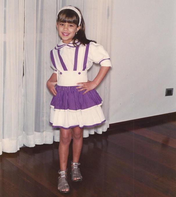 Aos 6 anos, ela já fazia poses para fotos (Foto: Arquivo pessoal)
