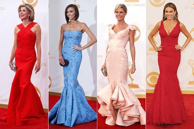 Tendências de moda no Emmy - Christine Baranski, Giuliana Rancic, Julie Bowen e Sofia Vergara (Foto: Reuters / Getty Images)