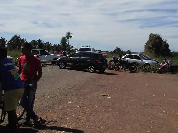 Bloqueio na TO-416 região norte do Tocantins (Foto: Divulgação)
