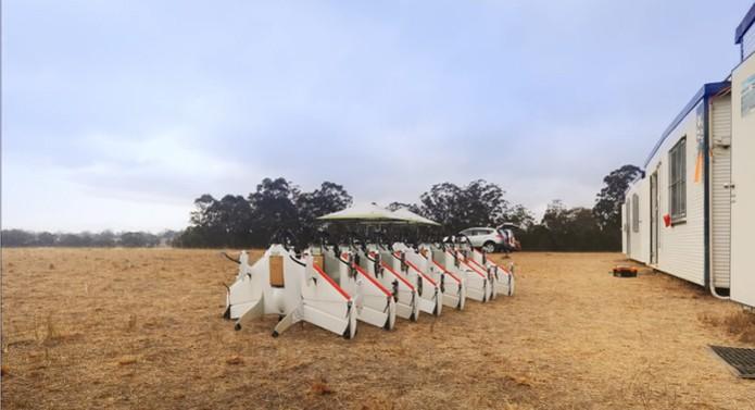 Drones do Google têm design que lembra aviões (Foto: Reprodução/Youtube)