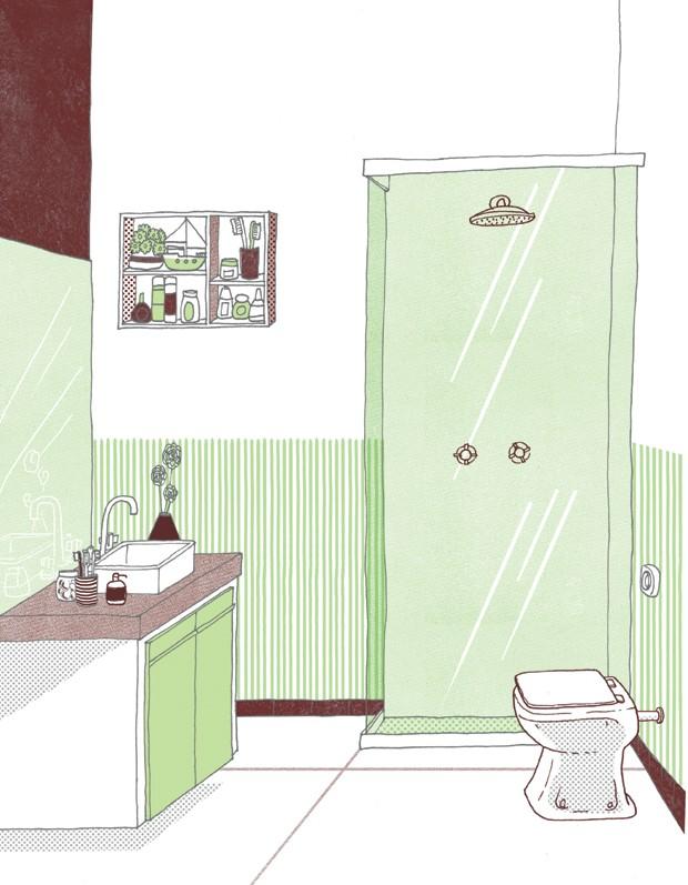 banheiro medidas guia métrico (Foto: Ilustração Daniel Almeida)