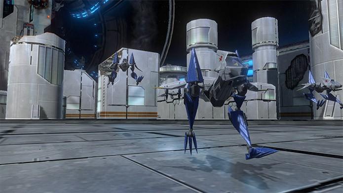 Star Fox Zero traz novos veículos como o Walker (Foto: Divulgação/Nintendo)