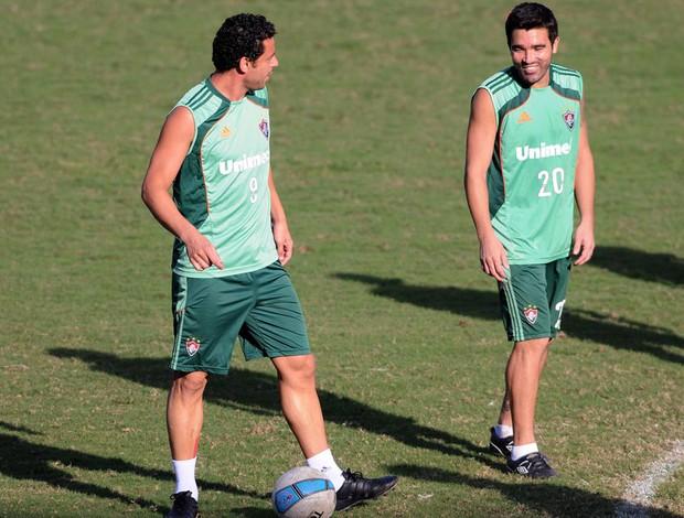 Fred Deco treino Fluminense (Foto: Dhavid Normando / Photocamera)