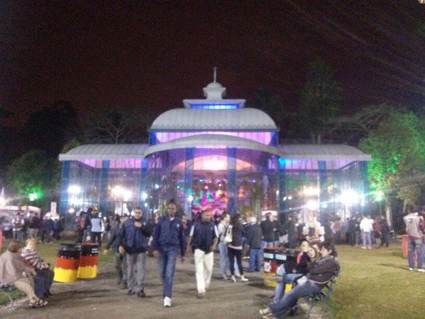 A Bauernfest é inaugurada (Foto: Andressa Canejo / G1)