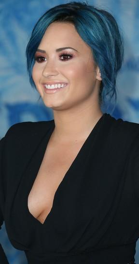 Demi Lovato em première de filme em Los Angeles, nos Estados Unidos (Foto: Frederick M. Brown/ Getty Images/ AFP)