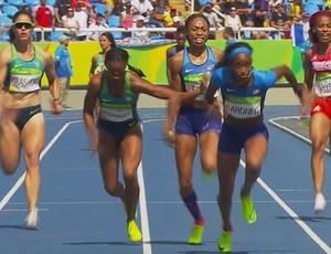 atletismo; revezamento; 4x100m feminino; Rio 2016 (Foto: Reprodução/SporTV)