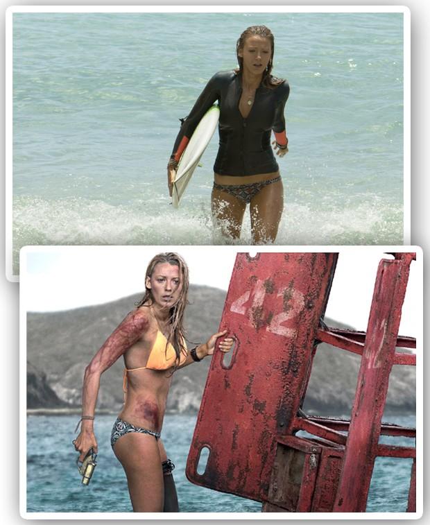 """Blake no set de filmagens de """"Águas Rasas"""" (Foto: Reprodução)"""