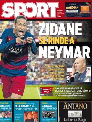 Neymar é capa do jornal Sport