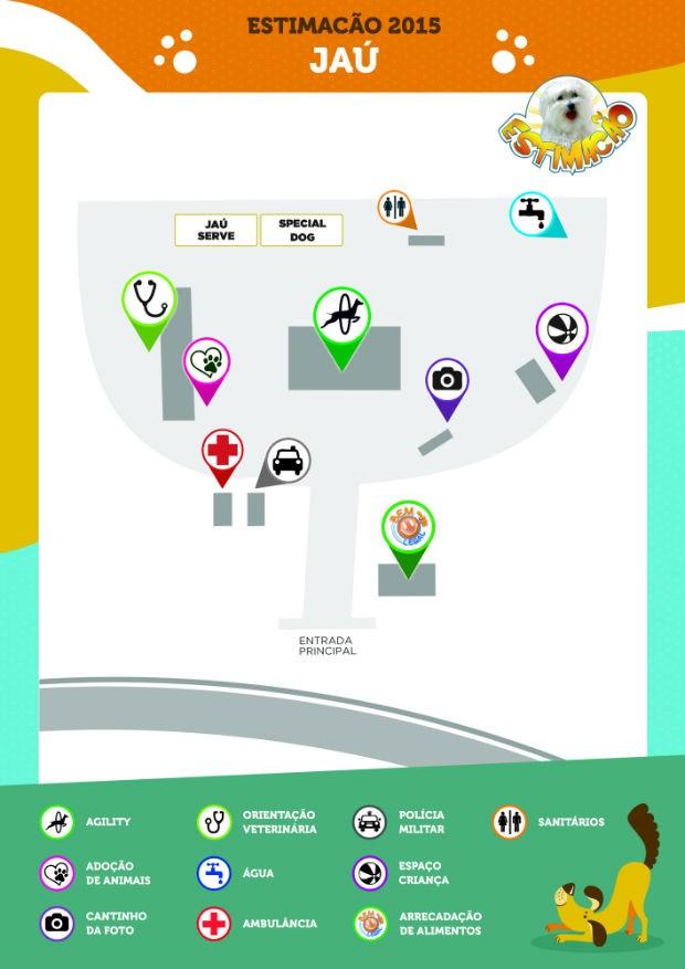 Confira o mapa do evento, que será realizado no Parque do Rio Jaú (Foto: Divulgação)