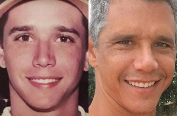 Márcio Garcia em foto antiga e em 2017 (Foto: Reprodução/Instagram)