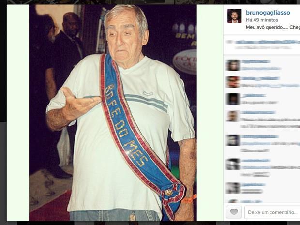Bruno Gagliasso publica foto em homenagem a Elias Gleizer (Foto: Reprodução/Instagram)